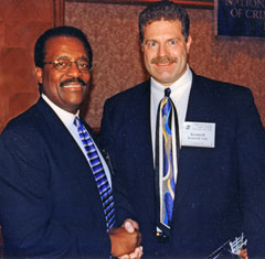 Ken Vale with the late Johnnie Lee Cochran, Jr., in Los Angeles.